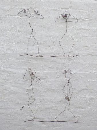 no, no, noDrahtobjekte, gehängt, 100 / 75 cm, 2017