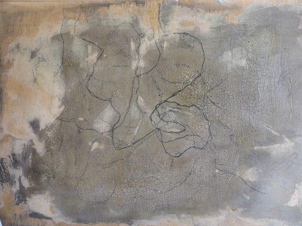 Poesie des Unvorhersehbaren 70 / 50 cm, 2014, Mischtechnik auf Holz