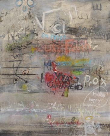 Street Art100 / 70cm, Collage Mischtechnik