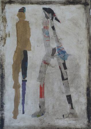 Newspeople 100 / 70 cm, Collage, Mischtechnik