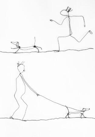 HundetageDrahtobjekte, gehängt, 100 / 70 cm